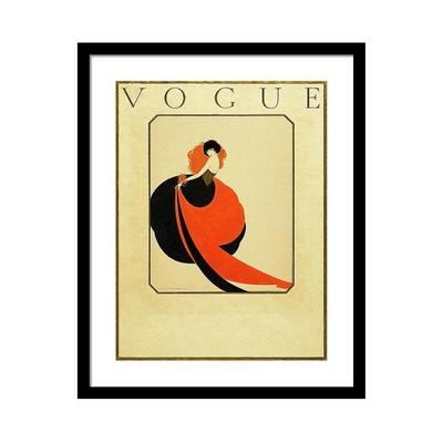 Vogue Cover Illustration of a Woman Wearing Постер