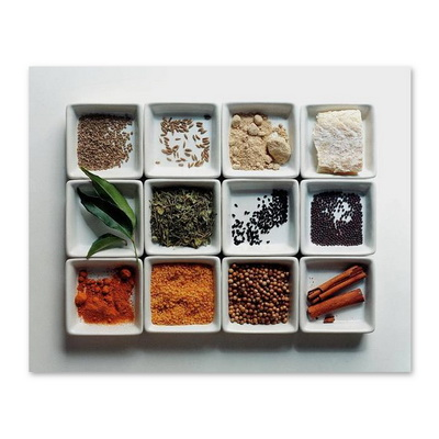 Dishes Of Spices Постер