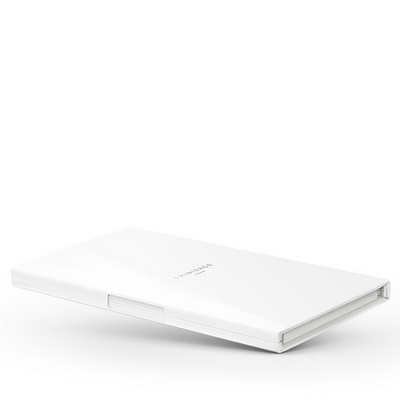 Le Carnet White Gloss - Nickel/White Записная книжка L