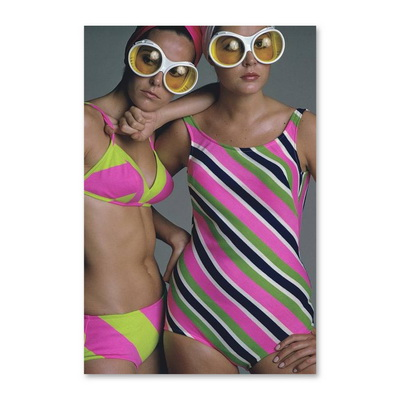 Goggles And Striped Swimsuits Постер