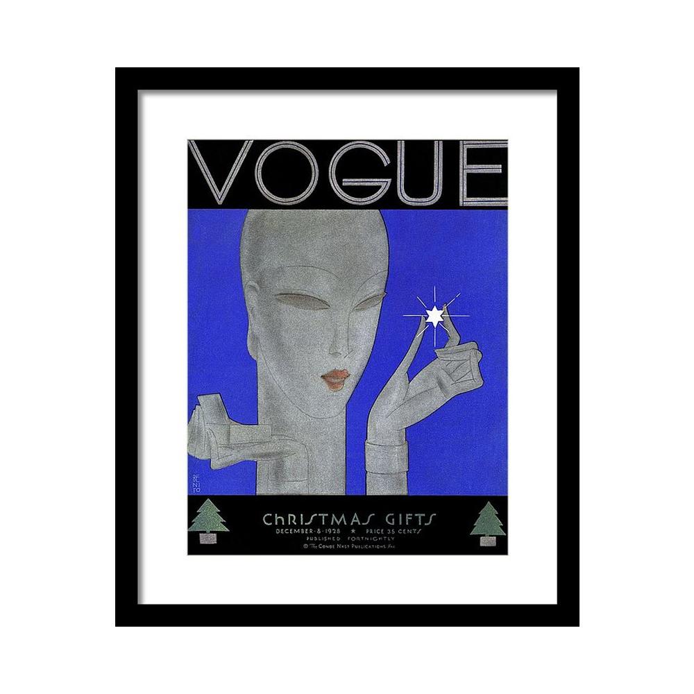 Vintage Vogue Magazine Cover of a Woman Постер фото