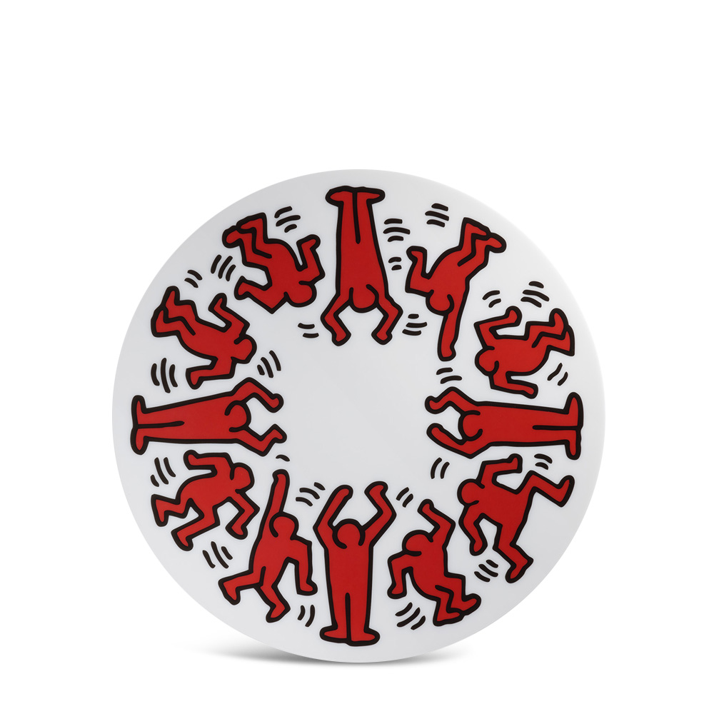 Keith Haring Тарелка декоративная Red on White фото