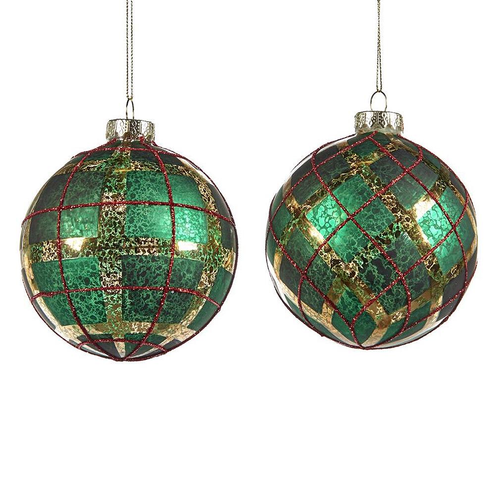 Tartan Green Новогоднее украшение 2 шт. за 2400 руб.