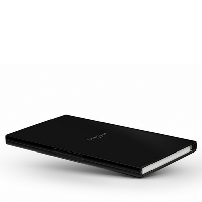 Le Carnet Black Matt - Nickel/White Записная книжка L