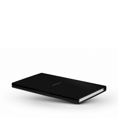 Le Carnet Black Matt - Nickel/White Записная книжка M