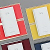 Le Carnet White Gloss - Gold/Coral Записная книжка M
