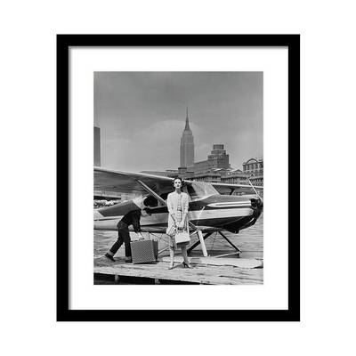 Lucille Cahart with Small Plane in NYC Постер