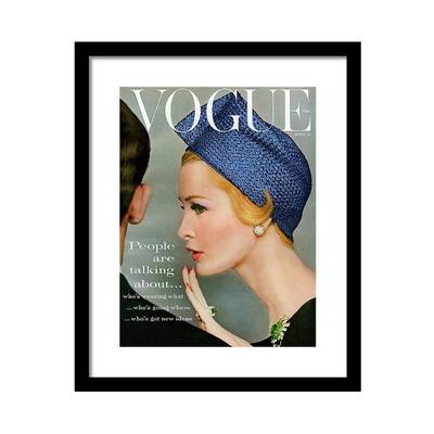 Vogue Cover of Sarah Thom Wearing a Blue Hat Постер