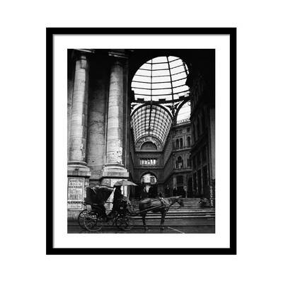 Horse and Cart by The Galleria Umberto Постер