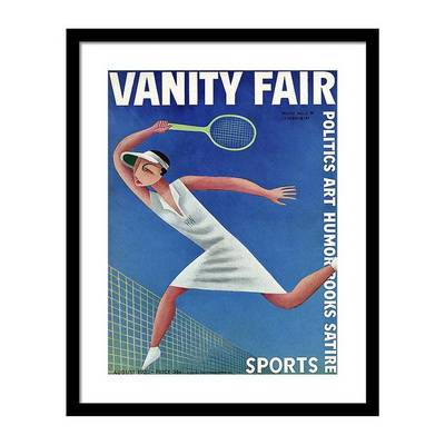 Vanity Fair Cover Featuring Helen Wills Playing Постер