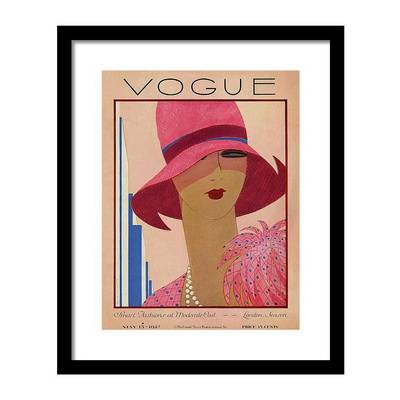 Vintage Vogue Magazine Cover of a Woman Постер