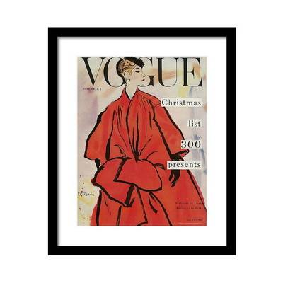 Vogue Magazine Cover Featuring a Woman Постер