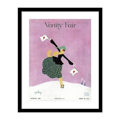 Vanity Fair Cover Featuring a Woman Holding Постер